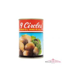9 CIRCLES STRAW MUSHROOMS 425G