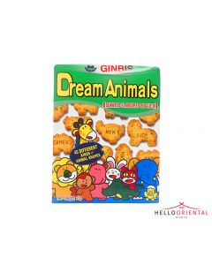 _GINBIS DREAM ANIMALS SEAWEED BISCUIT 37G