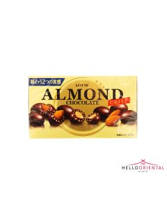 _LOTTE CHOCOLATE COVERED WHOLE ALMONDS & CRUNCHY MALT PUFF 89G