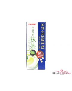 _MARUSANAI GREEN TEA PREMIUM SOY MILK DRINK 200ML 绿茶豆奶200毫升