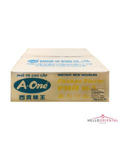 A-ONE INSTANT CHICKEN PHO BOWL 70G (CASE OF 12)