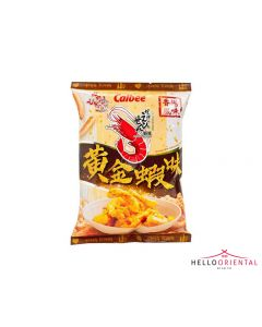 CALBEE PRAWN CRACKERS SHRIMP WITH SALTED EGG YOLK 75G *LIMITED EDITION*