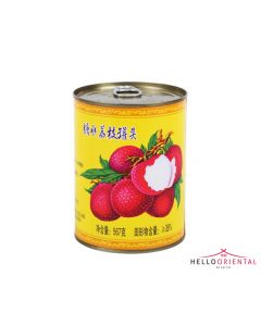 FU XING LYCHEES IN LIGHT SYRUP 567G (TIN)