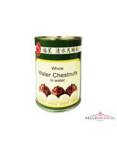 FU XING WHOLE WATER CHESTNUT IN WATER 567G