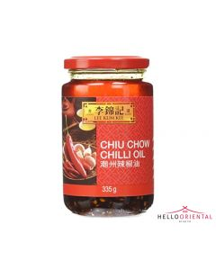 LEE KUM KEE CHILLI OIL CHIU CHOW 335ML (JAR) 潮州辣椒油335毫升