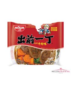 NISSIN INSTANT NOODLES ROAST BEEF (PKT) 出前一丁红烧牛肉面75克