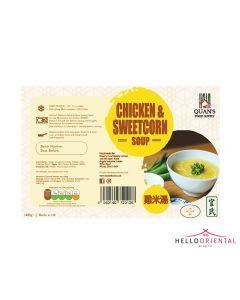 QUAN'S CHICKEN & SWEETCORN SOUP 460G