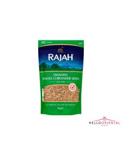 RAJAH DHANIYA WHOLE CORIANDER SEEDS 50G