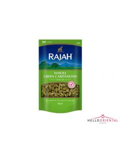 RAJAH WHOLE GREEN CARDAMOMS 50G