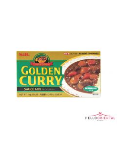 _S&B GOLDEN CURRY SAUCE MIX MEDIUM HOT 1KG CATERING SIZE 中辣咖喱块1公斤