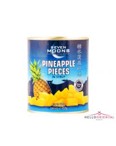 SEVEN MOONS PINEAPPLE PIECES IN SYRUP 850G (TIN) 菠萝罐头850克