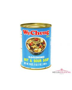 WU CHUNG OLD FASHIONED HOT & SOUR SOUP 540G (TIN)