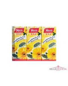 YEO'S CHRYSANTHEMUM TEA 250ML (PACK OF 6) YEO菊花茶250毫升6个