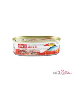 YU JIA XIANG FRIED DACE WITH SALTED BLACK BEANS 184G (TIN)