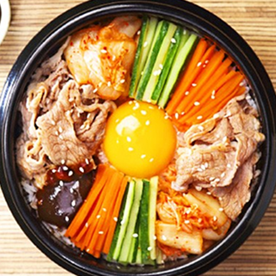 Korean Bibimbap With Hoisin Sauce